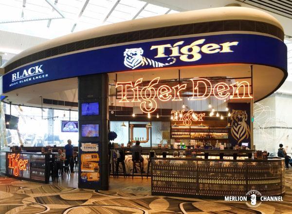 チャンギ空港ターミナル4の制限エリア内にある「タイガービール・バー」