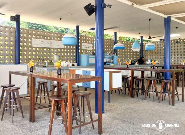 Tanjong Beach Clubのバーカウンター