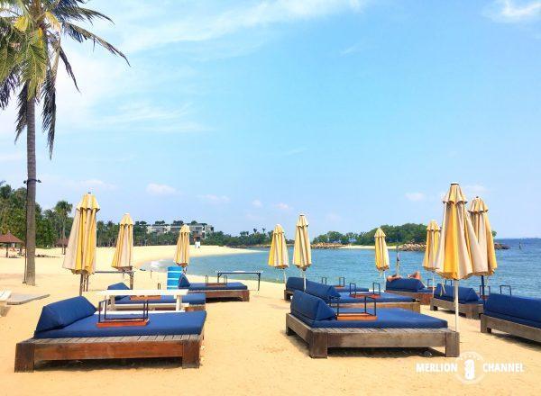 Tanjong Beach Clubのビーチベッド