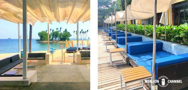 Tanjong Beach Clubのシーティングエリア