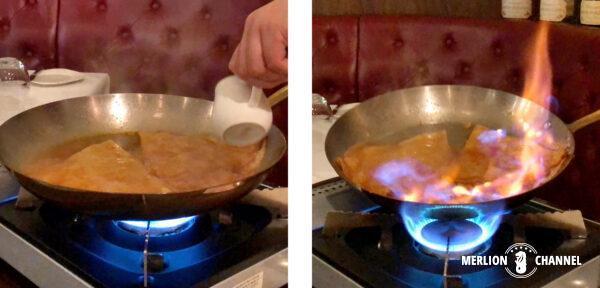 「タラタタ・ブラッセリー(Taratata Brasserie)」のクレープ・シュゼット
