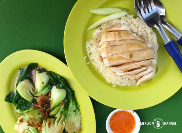 「天天海南鶏飯(Tian Tian Hainanese Chicken Rice)」のチキンライス