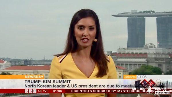 Trump-Kim中継BBC