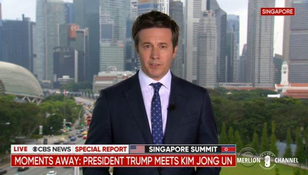 Trump-Kim中継CBS