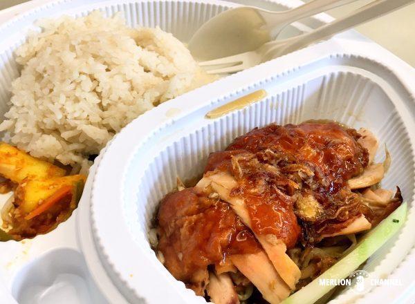 ユニバーサルスタジオ・シンガポール(USS)の「Discovery Food Court」チキンライス