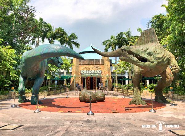 ユニバーサルスタジオ・シンガポール(USS)の「Discovery Food Court」外観