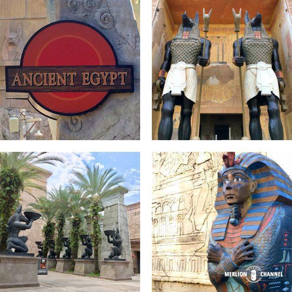 ユニバーサルスタジオ・シンガポール(USS)の「古代エジプト」エリア