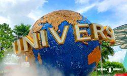 巨大な地球儀「Universal Globe」はユニバーサルスタジオのシンボル