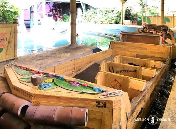 ユニバーサルスタジオ・シンガポール(USS)のアトラクション「マダガスカル」ボートにのって探検