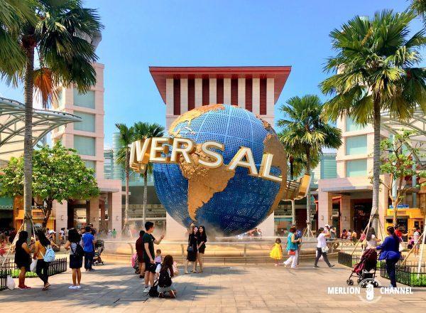 ユニバーサルスタジオ・シンガポール(USS)の入口前の広場