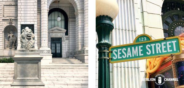 ユニバーサルスタジオ・シンガポール(USS)のNY公共図書館とセサミストリート