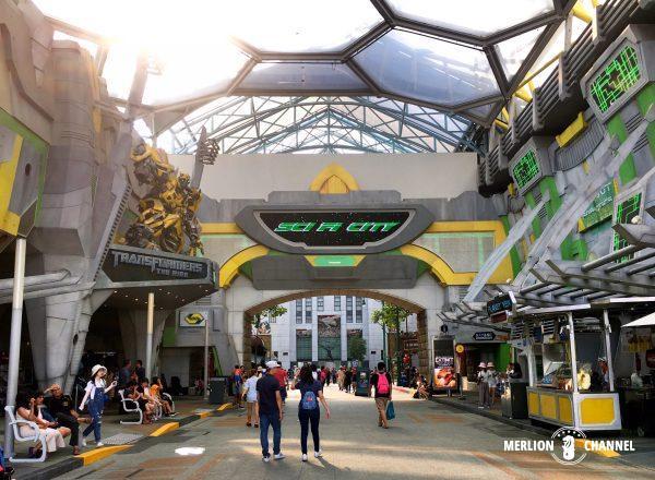 ユニバーサルスタジオ・シンガポール(USS)の「サイファイ・シティ」ゾーン