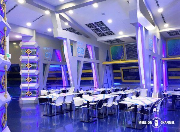 ユニバーサルスタジオ・シンガポール(USS)の「スターボットカフェ」の店内