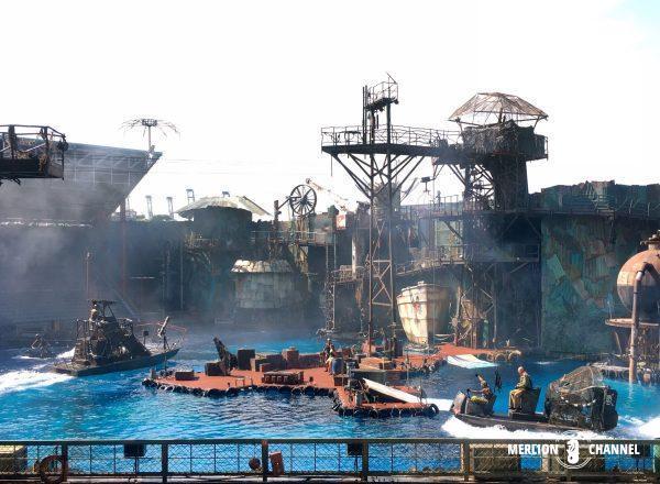 ユニバーサルスタジオ・シンガポール(USS)のスタントショー「Water World」