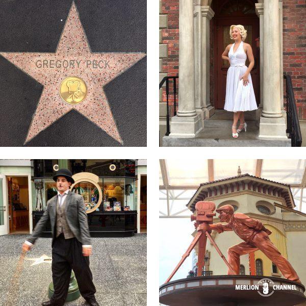 ユニバーサルスタジオ・シンガポール(USS)の「ハリウッド」ゾーンのWalk of Fame
