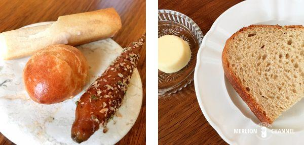 「ホワイト・ラビット」のアミューズとパン