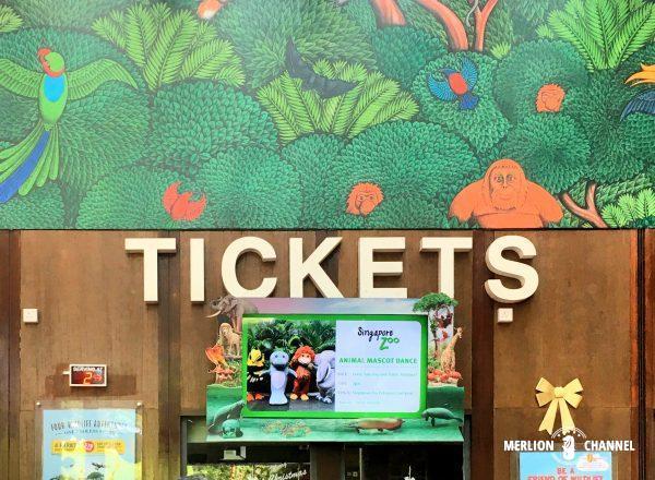 シンガポール動物園・リバーサファリのチケットカウンター