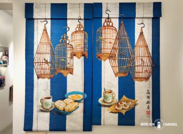 Yip Yew Chongの初個展「Something Somewhere Somewhen」の作品「Tiong Bahru Bird Corner」