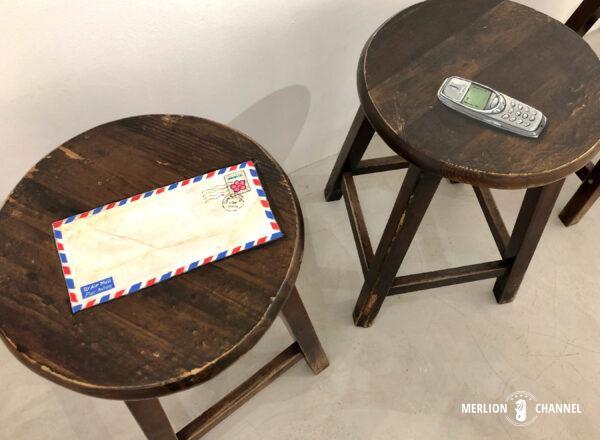 Yip Yew Chongの初個展「Something Somewhere Somewhen」の作品「Letter & Handphone」