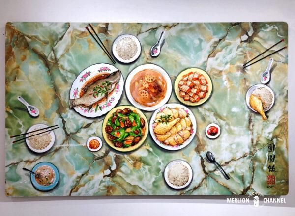 Yip Yew Chongの初個展「Something Somewhere Somewhen」作品「Reunion Dinner」