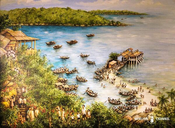 Yip Yew Chongの2回目の個展「Stories from Yesteryear」の作品「Pulau Kusu」