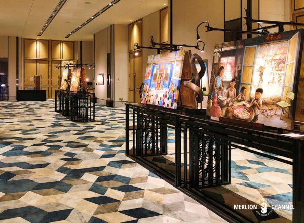 Yip Yew Chongの2回目の個展「Stories from Yesteryear」が開催されているソフィテル・シンガポール・シティセンター
