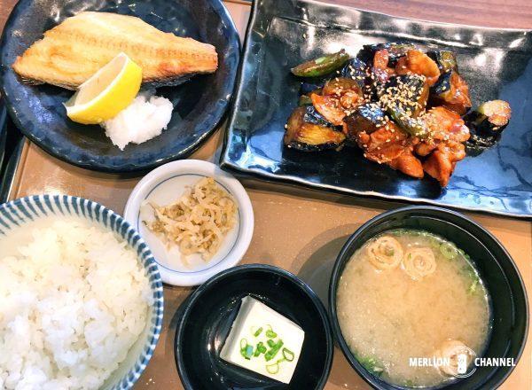 やよい軒「豚ナスの味噌炒めとホッケ定食」