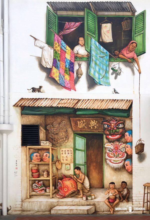 YipYewChong獅子舞の造形師と窓