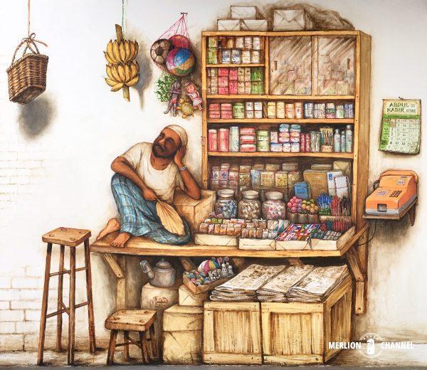 YipYewChongインド系イスラム教徒の売店