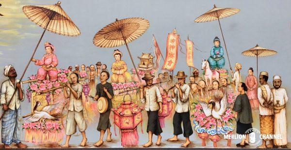 YipYewChong天后(媽祖)像を祀る行進